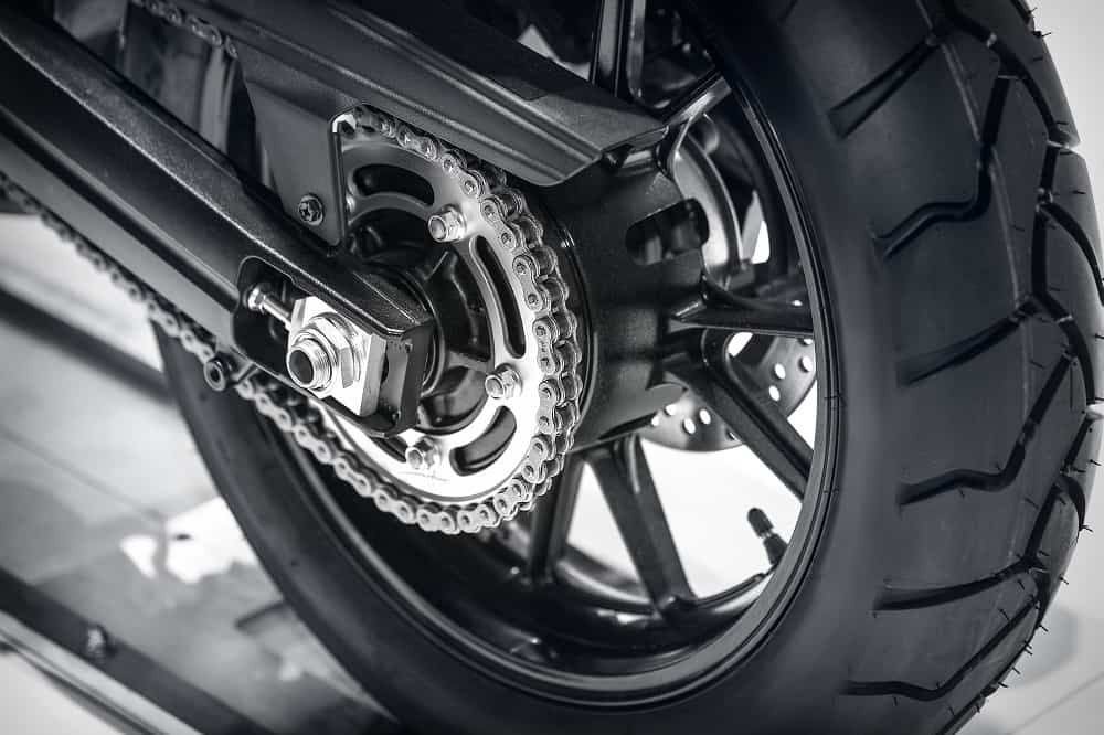 Tire of a motorcycle